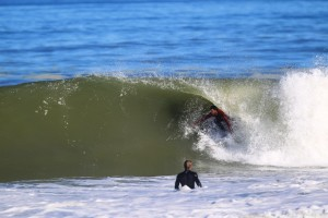 Frank getting shacked with Kiron Jabour looking on.