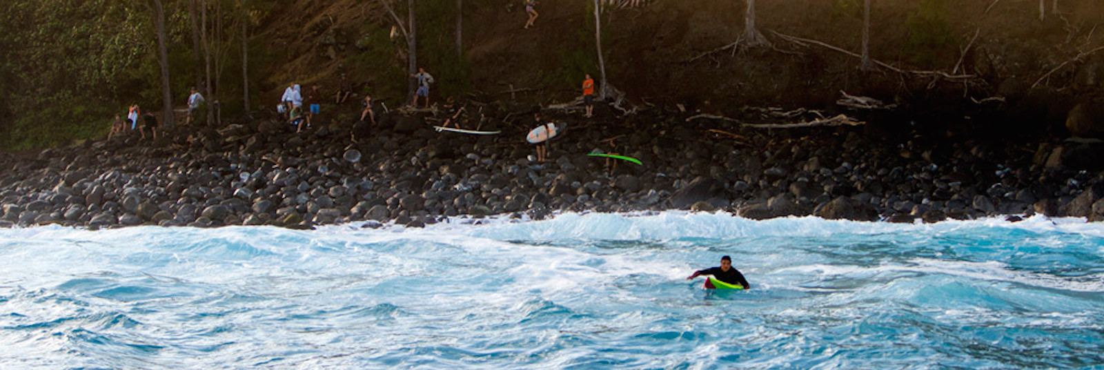 The scariest paddle out in the world.